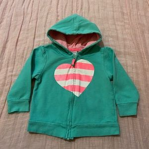 Carter's Striped Heart Hoodie